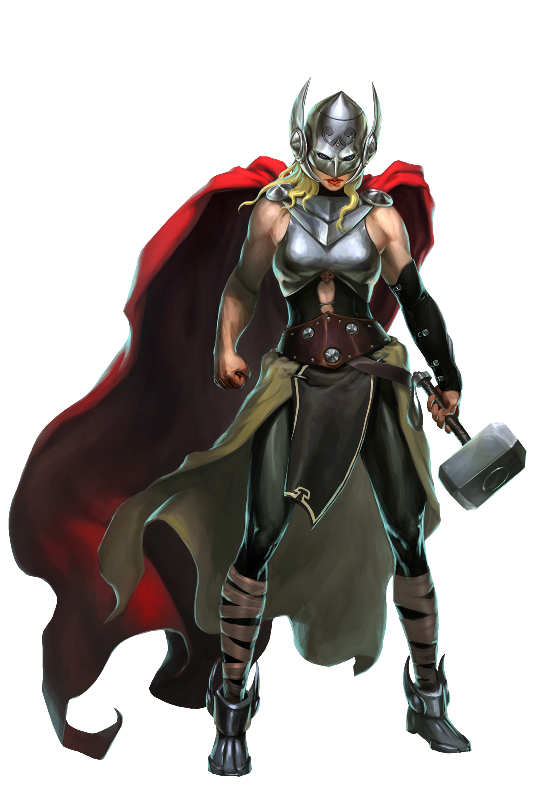 Thor Goddess of Thunder Character Art.0